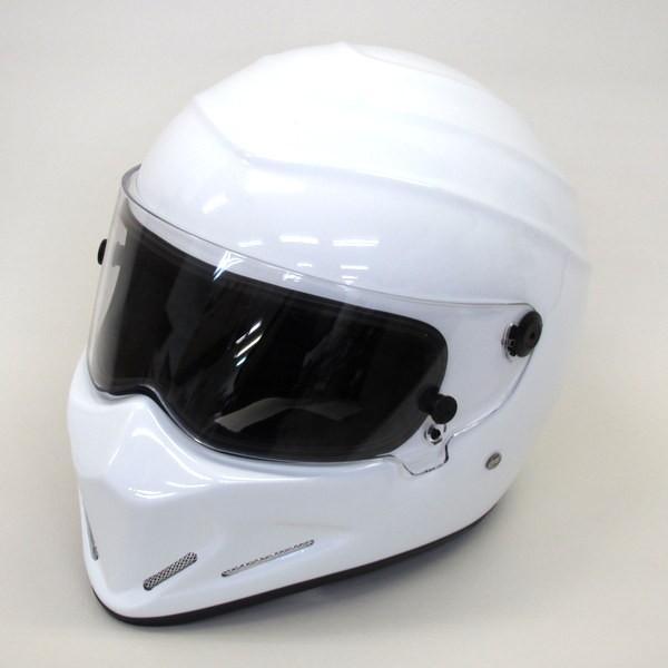 ●SIMPSON風 ヘルメット フルフェイス バイク用品 金具腐食 製造年不明 SGマーク無 男女兼用 【XL】 ホワイト  シンプソン ヘルメット H-9212N【中古】|sunstep