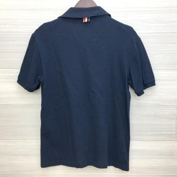トムブラウン トリコロール ストライプ ポロシャツ コットン 鹿の子 半袖 日本製 ネコポス可 メンズ THOM BROWNE トップス DM1399■|sunstep|02