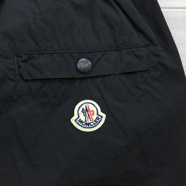 MONCLER モンクレール PANTALONE 5 TASCHE ナイロン パンツ イージー ボトム ロゴ ジップデザイン メンズ サイズ50 ブラック ズボン DM1670■ sunstep 05
