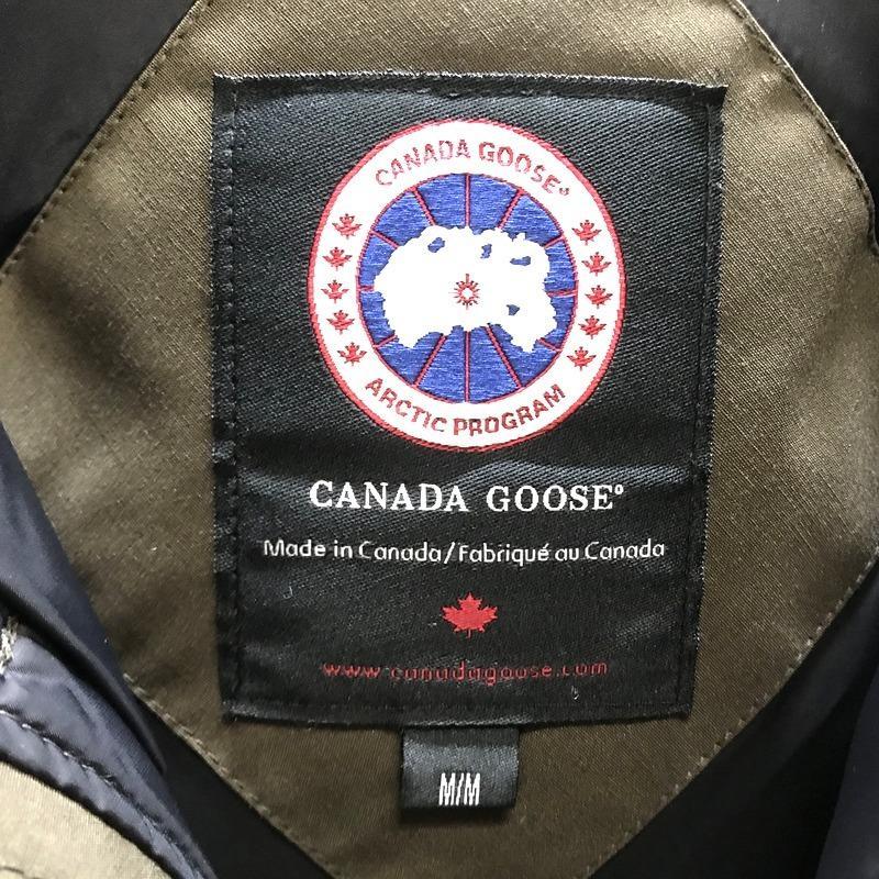 カナダグース ダウンジャケット JASPER ファー取り外し可能 防寒 コート 美品 メンズ Mサイズ カーキ CANADA GOOSE アウター A5683◆◆|sunstep|04