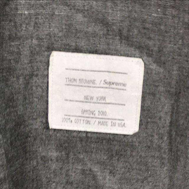 トム ブラウン シュプリーム OXFORD SHIRT 10SS 長袖 シャツ カジュアル コラボ 美品 メンズ サイズ1 グレー THOM BROWNE SUPREME トップス A6290◆ sunstep 05