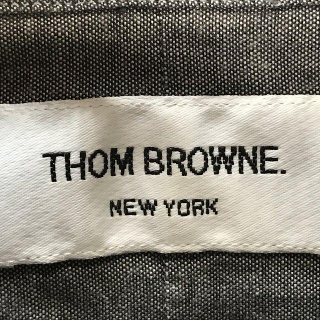 トム ブラウン シュプリーム OXFORD SHIRT 10SS 長袖 シャツ カジュアル コラボ 美品 メンズ サイズ1 グレー THOM BROWNE SUPREME トップス A6290◆ sunstep 06