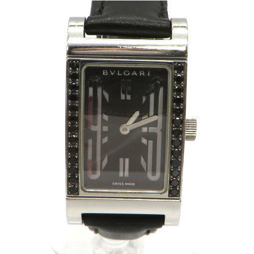 ブルガリ RT39S 腕時計 Rettangolo レッタンゴロ ブラックダイヤベゼル クォーツ アナログ  レディース   BVLGARI 時計 W5269☆|sunstep|02