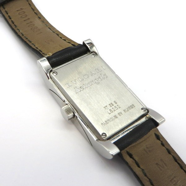 ブルガリ RT39S 腕時計 Rettangolo レッタンゴロ ブラックダイヤベゼル クォーツ アナログ  レディース   BVLGARI 時計 W5269☆|sunstep|05