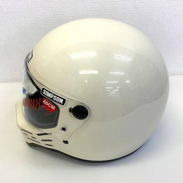 ●未使用品 SIMPSON 限定販売カラー レア M10 フルフェイスヘルメット シンプソン アイボリー 【60cm】 ランクS N13993-H【中古】 sunstep 02
