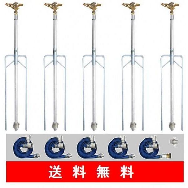 Φ50ニューカプラーセット5本立 Φ50×12m送水ホース(ハイサニー)金具付 使用