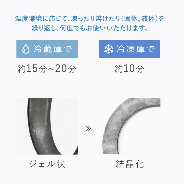 Suo公式 特許取得済 クールリング 28°ICE ネック用  熱中症予防 冷感持続 首掛け ネッククーラー アイシング 解熱 スポーツ観戦 アウトドア M  Lサイズ|suo-life|09