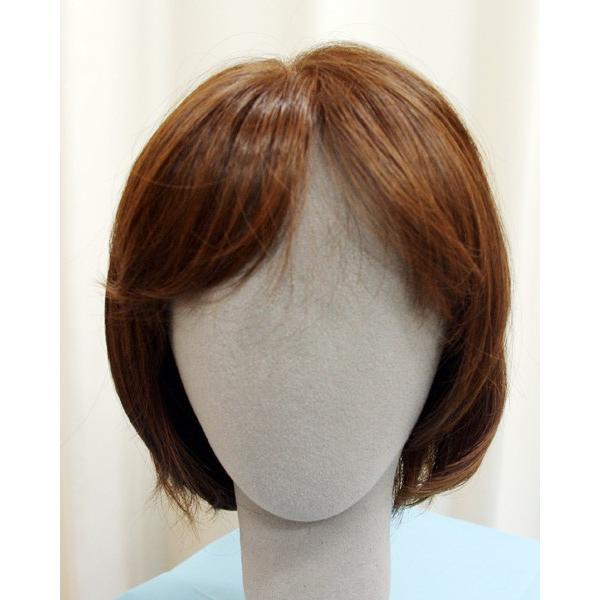 ボブスタイル ブラウン 軽いウイッグ 自然仕上げ ハンドメイド  ご来店で調整カット付き 医療用 super-hair-seo