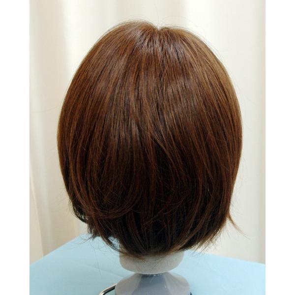 ボブスタイル ブラウン 軽いウイッグ 自然仕上げ ハンドメイド  ご来店で調整カット付き 医療用 super-hair-seo 04