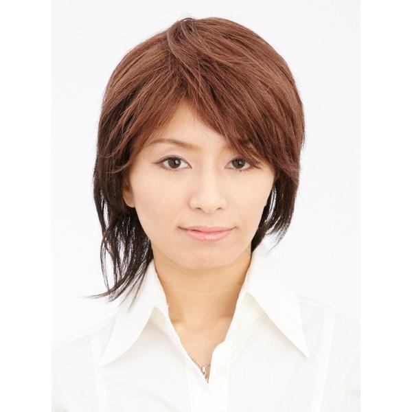 ピーチショート 軽いウイッグ 自然仕上げ ハンドメイド  ご来店で調整カット付き 医療用 |super-hair-seo|02