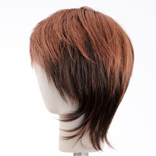 ピーチショート 軽いウイッグ 自然仕上げ ハンドメイド  ご来店で調整カット付き 医療用 |super-hair-seo|04