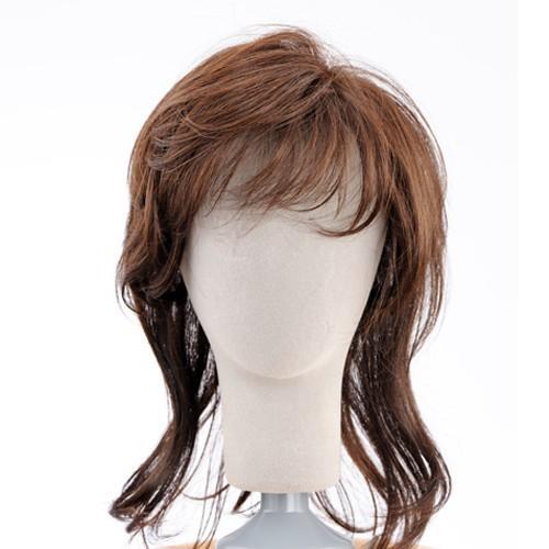 ネット限定価格 ソフトレイヤー 軽いウイッグ 自然仕上げ ハンドメイド  ご来店で調整カット付き 医療用|super-hair-seo|04