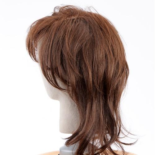 ネット限定価格 ソフトレイヤー 軽いウイッグ 自然仕上げ ハンドメイド  ご来店で調整カット付き 医療用|super-hair-seo|05