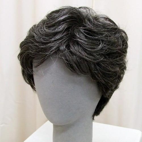 ネット限定 白髪15% ソフトショート 軽いウイッグ 自然仕上げ ハンドメイド ご来店で調整カット付き 医療用|super-hair-seo|02