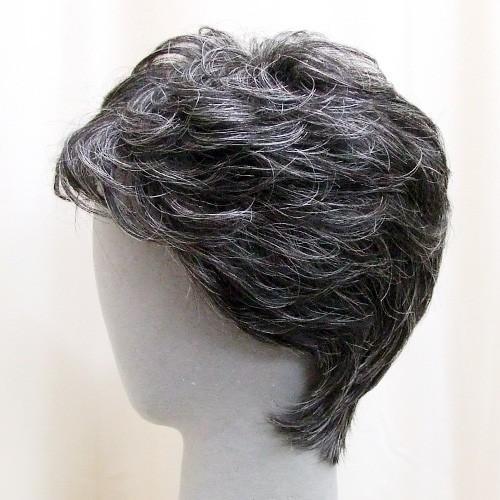 ネット限定 白髪15% ソフトショート 軽いウイッグ 自然仕上げ ハンドメイド ご来店で調整カット付き 医療用|super-hair-seo|03