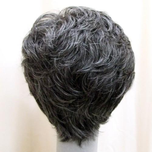 ネット限定 白髪15% ソフトショート 軽いウイッグ 自然仕上げ ハンドメイド ご来店で調整カット付き 医療用|super-hair-seo|04