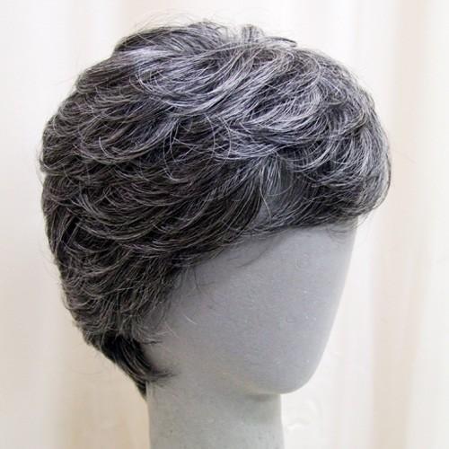 ネット限定 白髪30% ソフトショート 軽いウイッグ 自然仕上げ ハンドメイド ご来店で調整カット付き 医療用|super-hair-seo|04