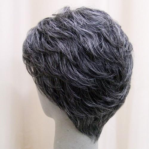 ネット限定 白髪30% ソフトショート 軽いウイッグ 自然仕上げ ハンドメイド ご来店で調整カット付き 医療用|super-hair-seo|05