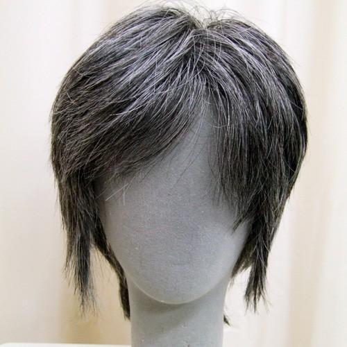 白髪30%  マッシュショート  軽いウイッグ 自然仕上げ ハンドメイド ご来店で調整カット付き 医療用 super-hair-seo 04