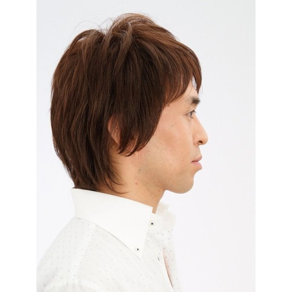 フェザーミッドレイヤー 軽いウイッグ 自然仕上げ ハンドメイド ご来店で調整カット付き 医療用|super-hair-seo|03