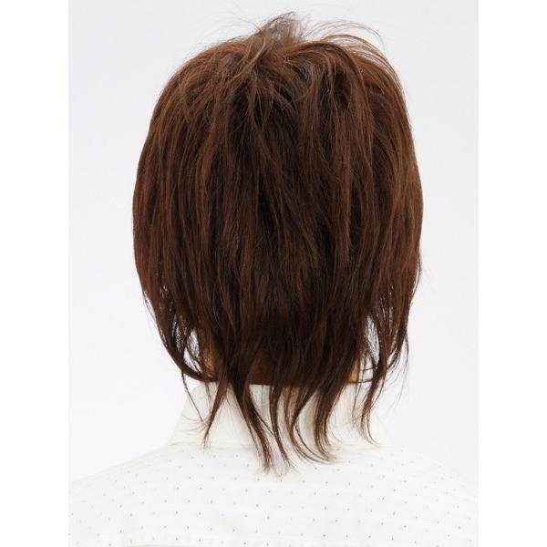 フェザーミッドレイヤー 軽いウイッグ 自然仕上げ ハンドメイド ご来店で調整カット付き 医療用|super-hair-seo|05