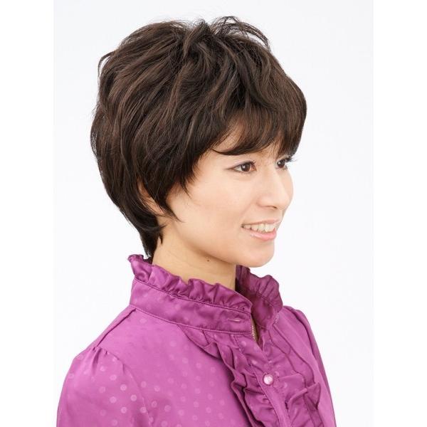 ネット限定価格 ソフトショート 軽いウイッグ 自然仕上げ ハンドメイド  ご来店で調整カット付き 医療用 super-hair-seo 02