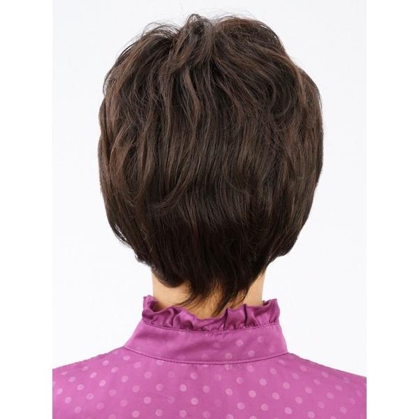 ネット限定価格 ソフトショート 軽いウイッグ 自然仕上げ ハンドメイド  ご来店で調整カット付き 医療用 super-hair-seo 03