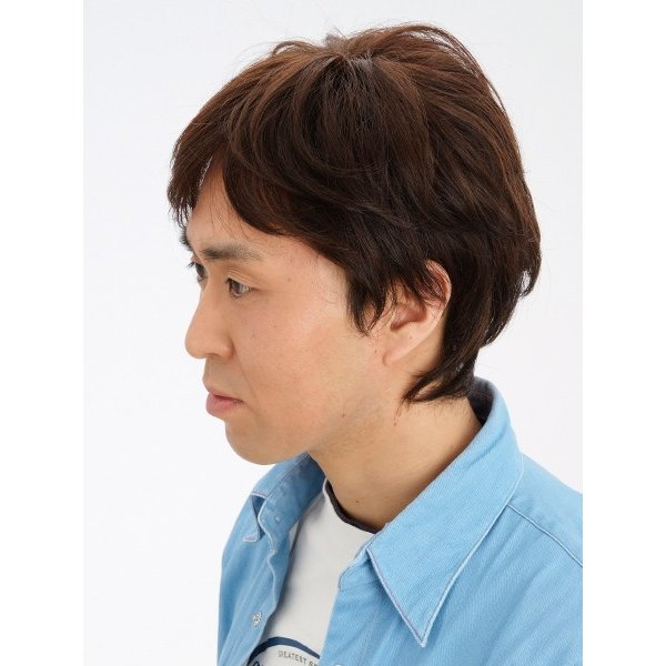 マニッシュ・レイヤー 軽いウイッグ 自然仕上げ ハンドメイド ご来店で調整カット付き 医療用|super-hair-seo|03