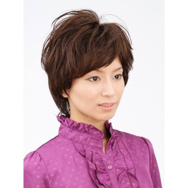 エアリーショート 軽いウイッグ 自然仕上げ ハンドメイド 医療用|super-hair-seo|02