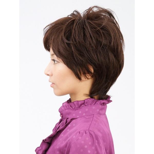 エアリーショート 軽いウイッグ 自然仕上げ ハンドメイド 医療用|super-hair-seo|04