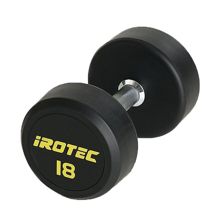 IROTEC(アイロテック)ジムダンベル 18KG/ダンベル トレーニング器具 筋トレ器具 筋トレグッズ ベンチプレス バーベル ウエイトトレーニング