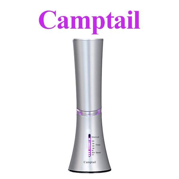 アロマディフューザー カンプテール 水を使わない ディフューザー  アロマ 卓上 ガラス 超音波 水無し LED おしゃれ 精油|supereagle