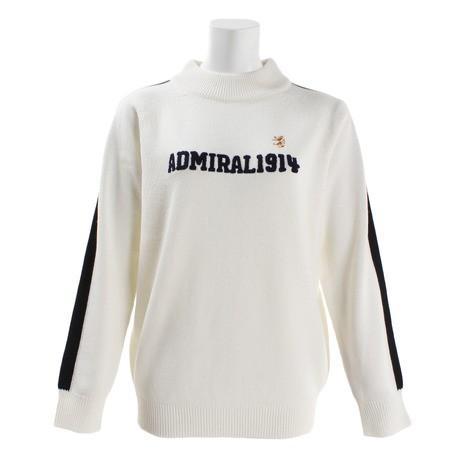 アドミラル(Admiral) ゴルフウェア レディース 長袖ハイネックシャツ ロゴ ハイネックセーター ADLA8S8-WHT (Lady's)