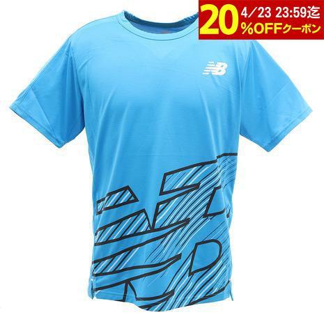 ニューバランス new balance ランニング Tシャツ メンズ オンライン価格 グラフィックショートスリーブ トラスト 通販 激安 AMT01206VSB 半袖 HANZO