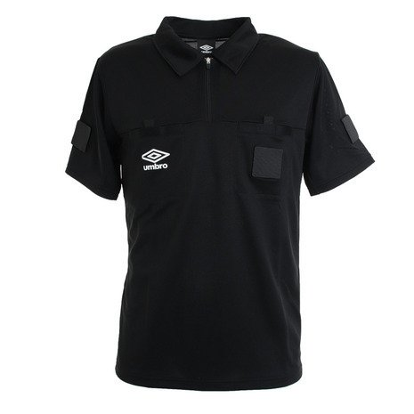 アンブロ UMBRO サッカー ウェア メンズ UAS6608 レフリーシャツ BLK 半袖 贈与 毎日激安特売で 営業中です