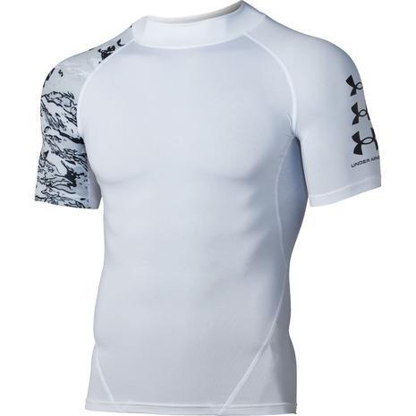 アンダーアーマー UNDER ARMOUR ヒートギアアーマー ノベルティ 超激安特価 トレーニング 驚きの価格が実現 メンズ AT 半袖シャツ 1363304 WHT