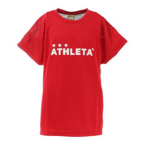 アスレタ ATHLETA サッカー ウェア 半袖 ジュニア 在庫一掃 フットサルウェア キッズ 2344J プラクティスシャツ Tシャツ RED 交換無料