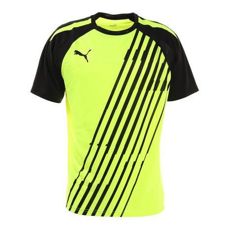 プーマ おトク PUMA サッカー ウェア メンズ 半袖 65748440 Tシャツ 5☆好評 INDIVIDUAL PACER プラクティスシャツ