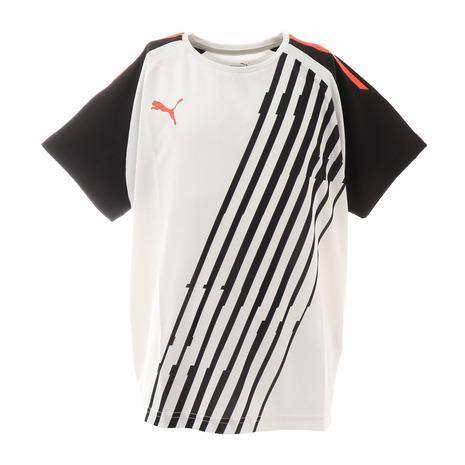 プーマ PUMA サッカー ウェア 半袖 毎日続々入荷 ジュニア INDIVIDUAL プラクティスシャツ キッズ フットサルウェア Tシャツ PACER ついに入荷 65747741