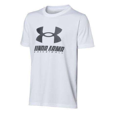 アンダーアーマー SALE UNDER ARMOUR ボーイズ テック Tシャツ 1364723 100 売り出し ビックロゴ キッズ
