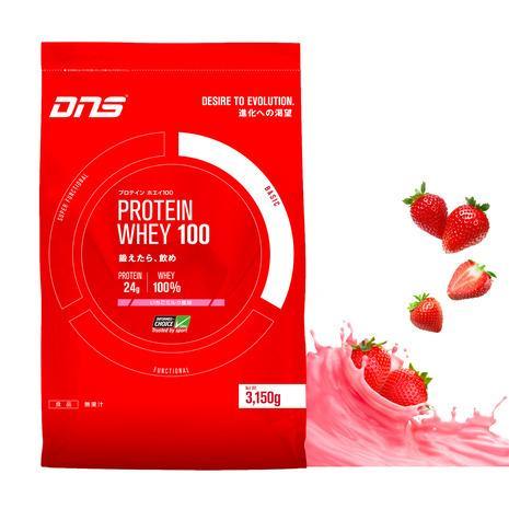 ディーエヌエス(DNS) プロテイン ホエイ100 いちごミルク風味 3150g 90食入 (メンズ、レディース)