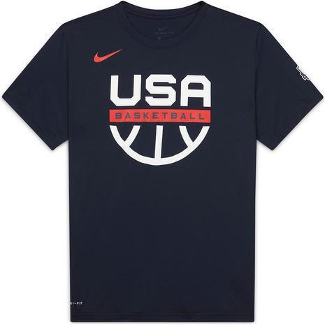 ナイキ NIKE バスケットボール ウェア 発売モデル メーカー再生品 USA Dri-FIT 半袖Tシャツ CT8784-451FA20HP 公式プラクティスグラフィック メンズ アメリカ代表