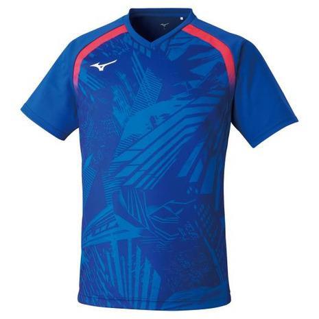 ミズノ 定番から日本未入荷 MIZUNO 卓球ウエア レプリカシャツ 青 レディース ブルー 82JA0Z2020 未使用 メンズ