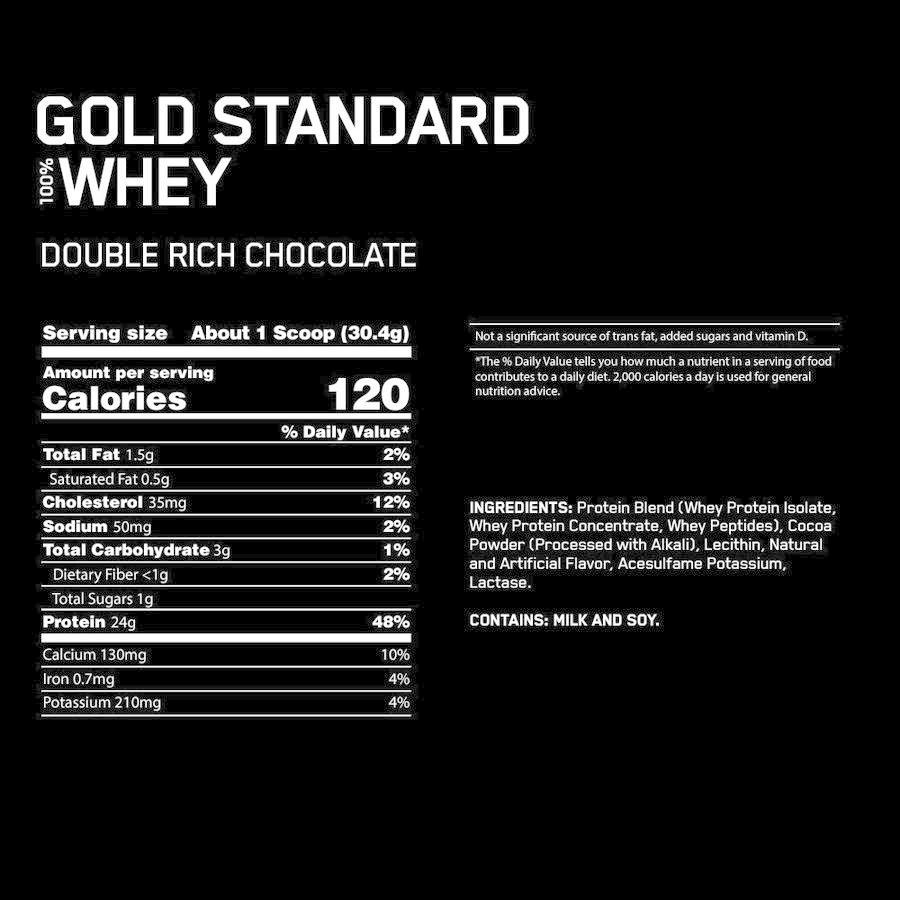 ゴールドスタンダード オプティマムニュートリション100%ホエイ ダブルリッチチョコレート 907g Optimum Nutrition 100% WHEY Double Rich Chocolate 2 LB supla 06
