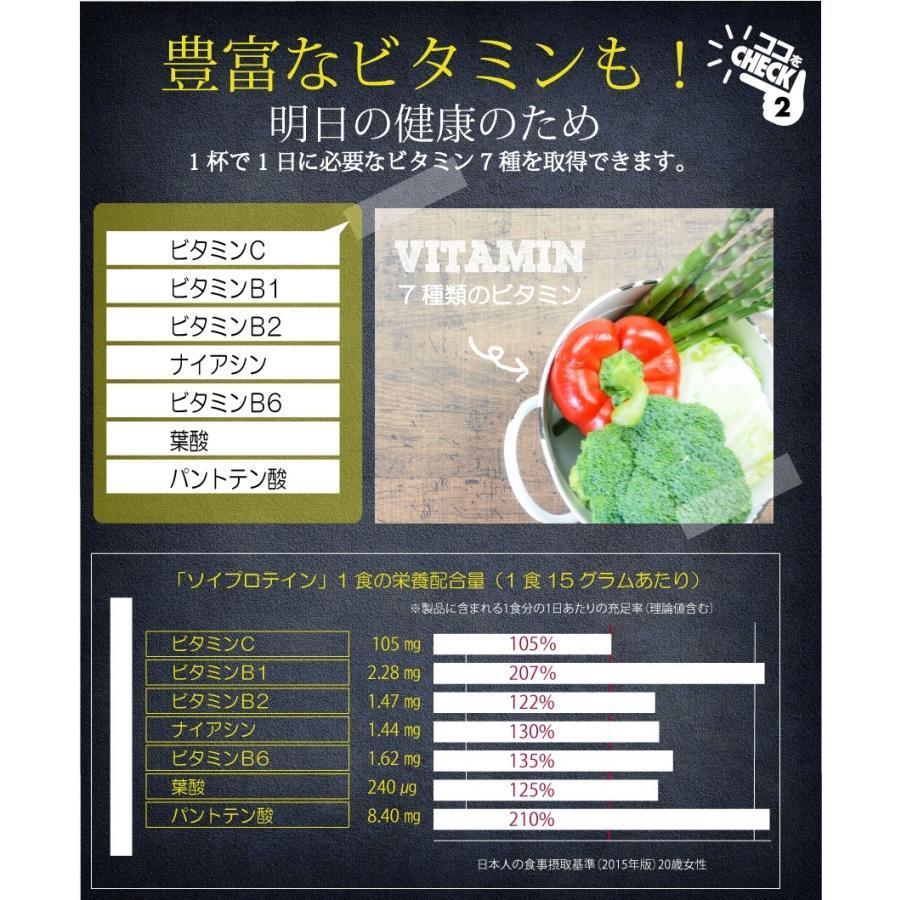 お徳用2個セット ボタニカル ソイプロテイン 300g(非遺伝子組替) 選べる9種類の味 7種のビタミン コラーゲン 乳酸菌 酵素パウダー|supplemarche|14