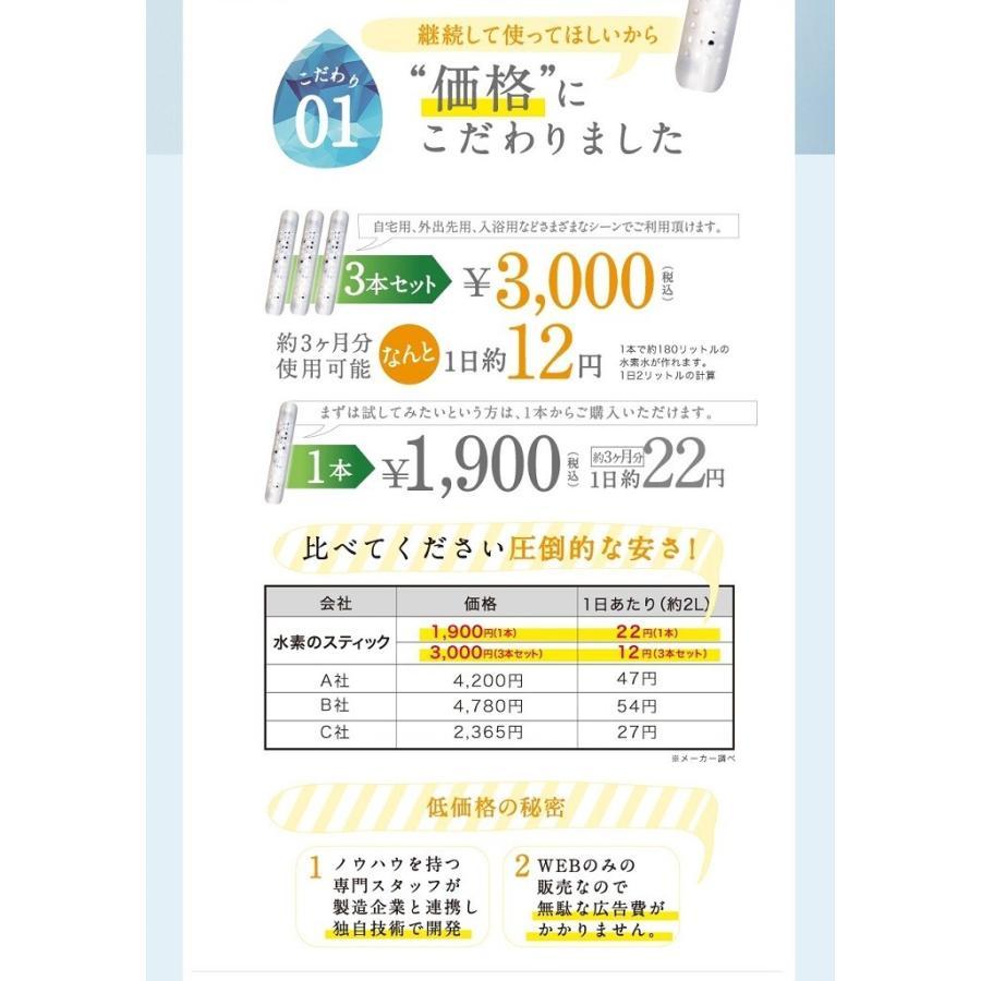 水素のスティック 1日あたり約22円 180リットル用 約3か月使用可 送料無料  水素水生成器  水素水 スティック  ダイエット|supplemarche|12