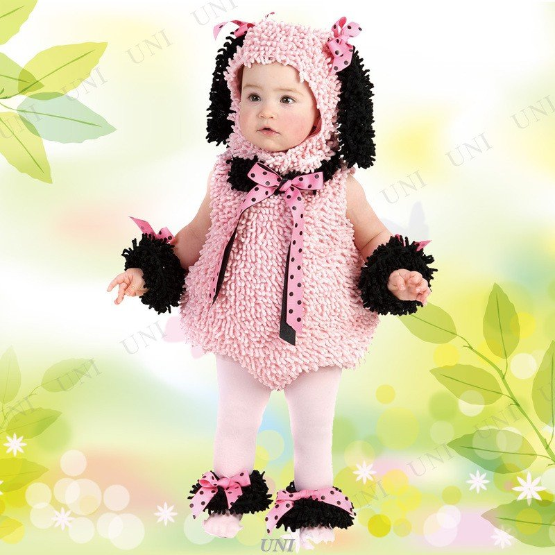ベビー用ピンキープードル 仮装 衣装 コスプレ ハロウィン コスチューム キッズ 動物