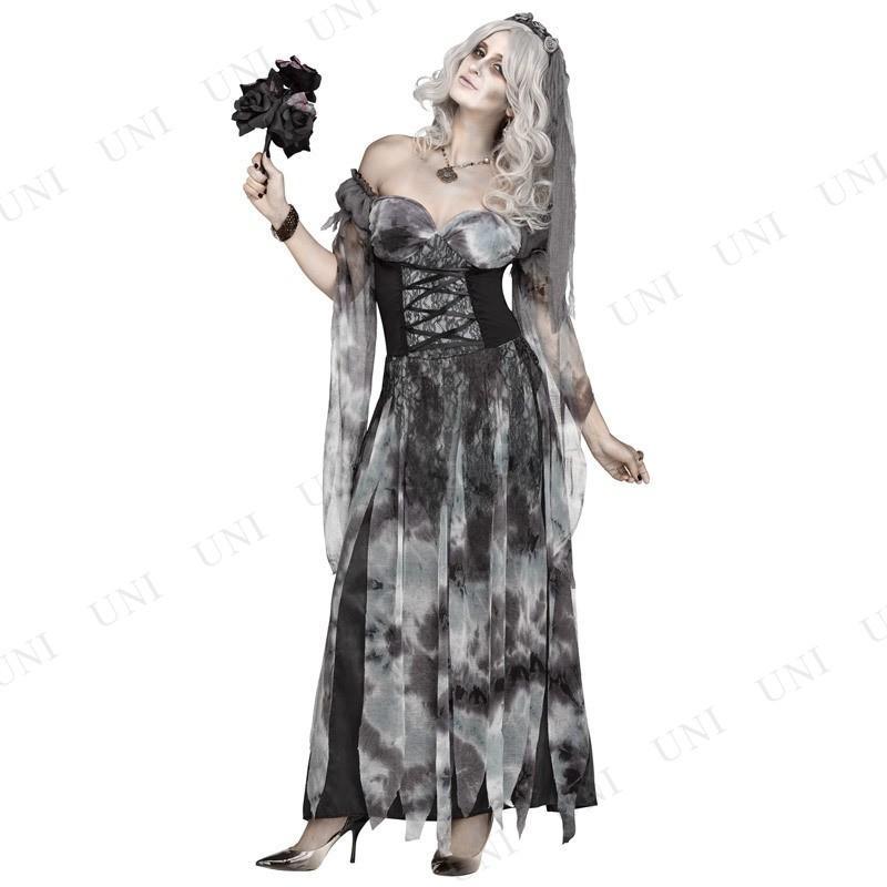 セメタリーブライド ML コスプレ 衣装 ハロウィン 仮装 余興 コスチューム 大人用 怖い