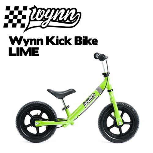 【送料無料】バランスバイク,ペダル無し,自転車,子供用,キッズ用●Wynn Kick Bike LIME ウィンキックバイク ライム
