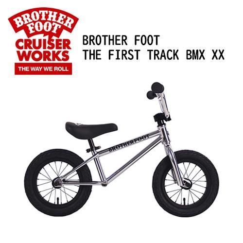 【あすつく対応・送料無料】バランスバイク,キックバイク,ペダル無し,自転車,子供用,キッズ用●BROTHER FOOT THE FIRST TRACK BMX XX 銀 (CP)